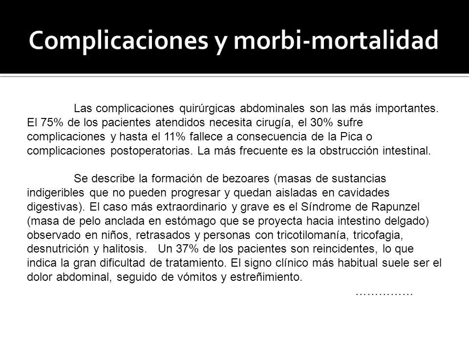 Complicaciones y morbi-mortalidad