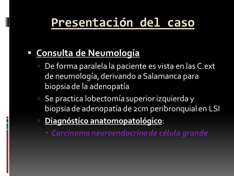 Presentación del caso Consulta de Neumología