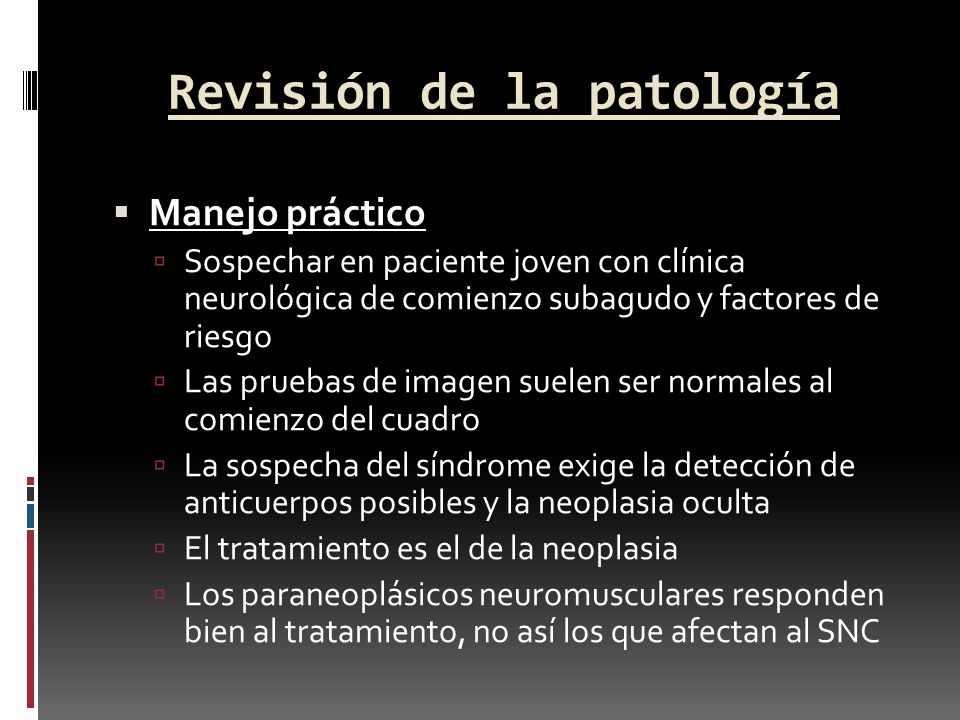Revisión de la patología