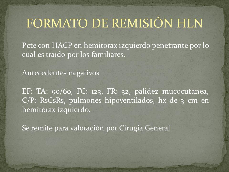 FORMATO DE REMISIÓN HLN