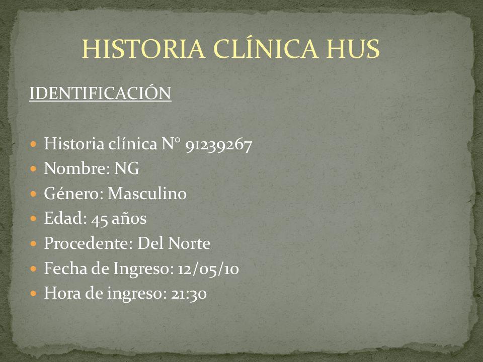 HISTORIA CLÍNICA HUS IDENTIFICACIÓN Historia clínica N° 91239267
