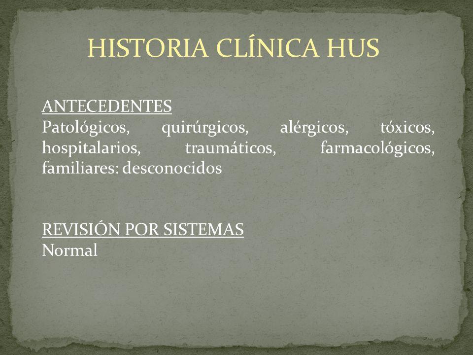 HISTORIA CLÍNICA HUS ANTECEDENTES