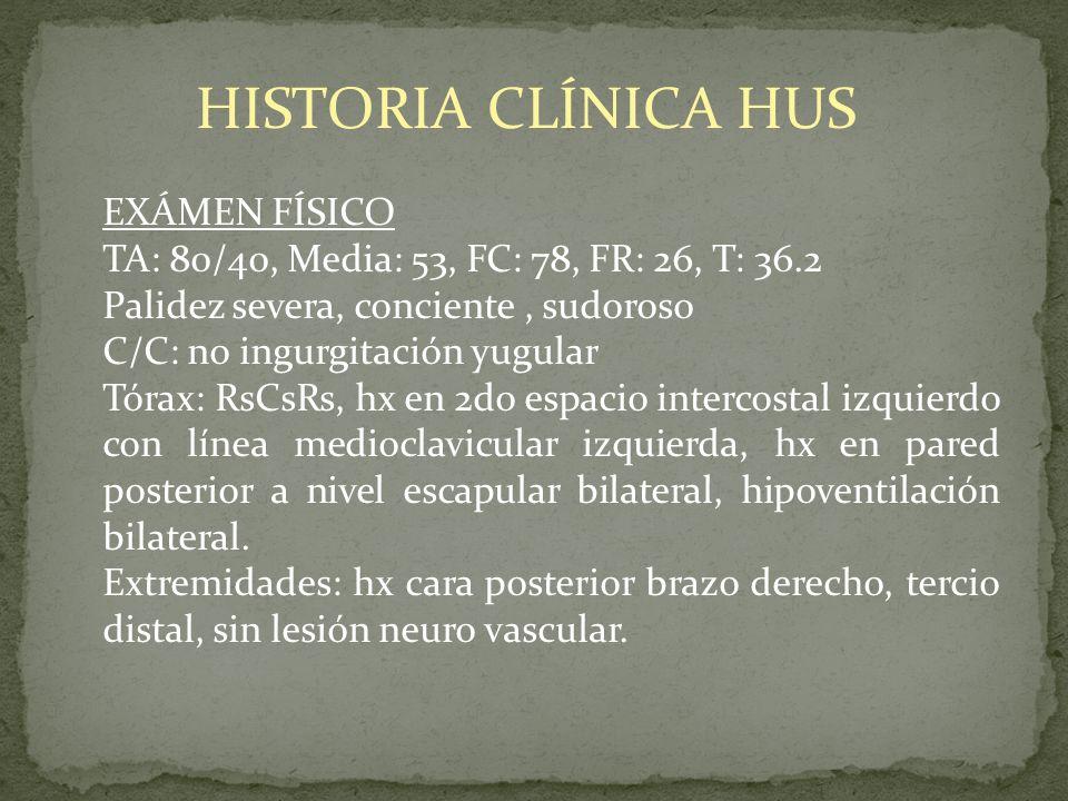 HISTORIA CLÍNICA HUS EXÁMEN FÍSICO
