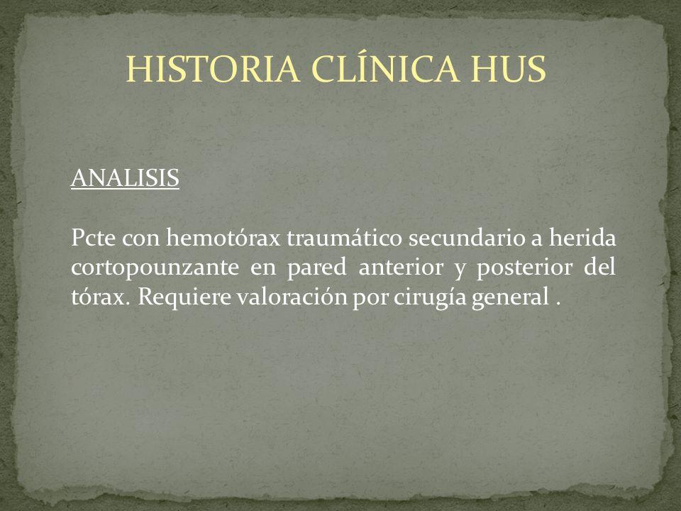 HISTORIA CLÍNICA HUS ANALISIS