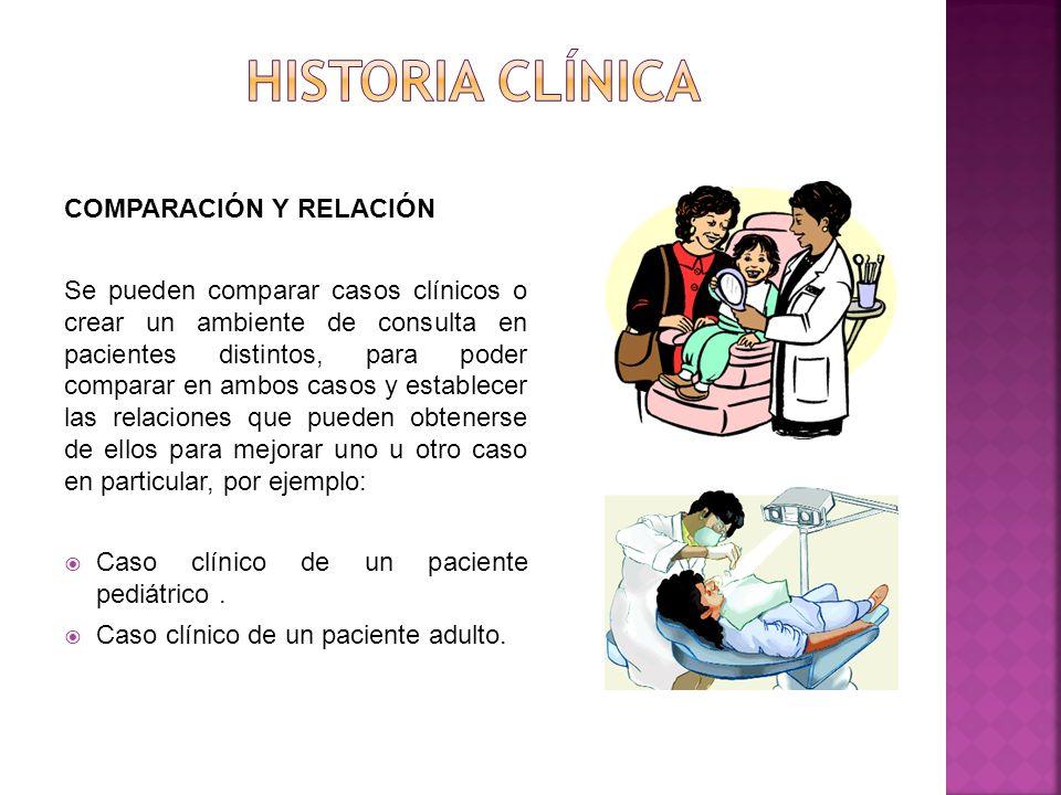 Historia clínica COMPARACIÓN Y RELACIÓN