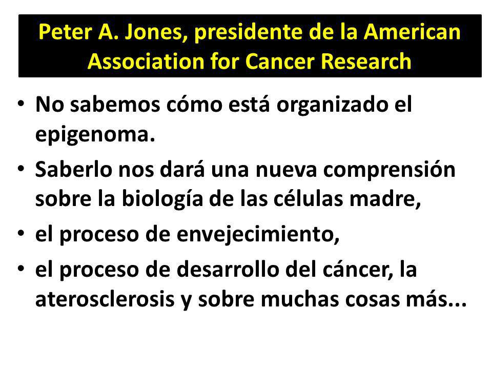 Peter A. Jones, presidente de la American Association for Cancer Research