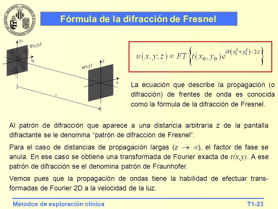 Fórmula de la difracción de Fresnel