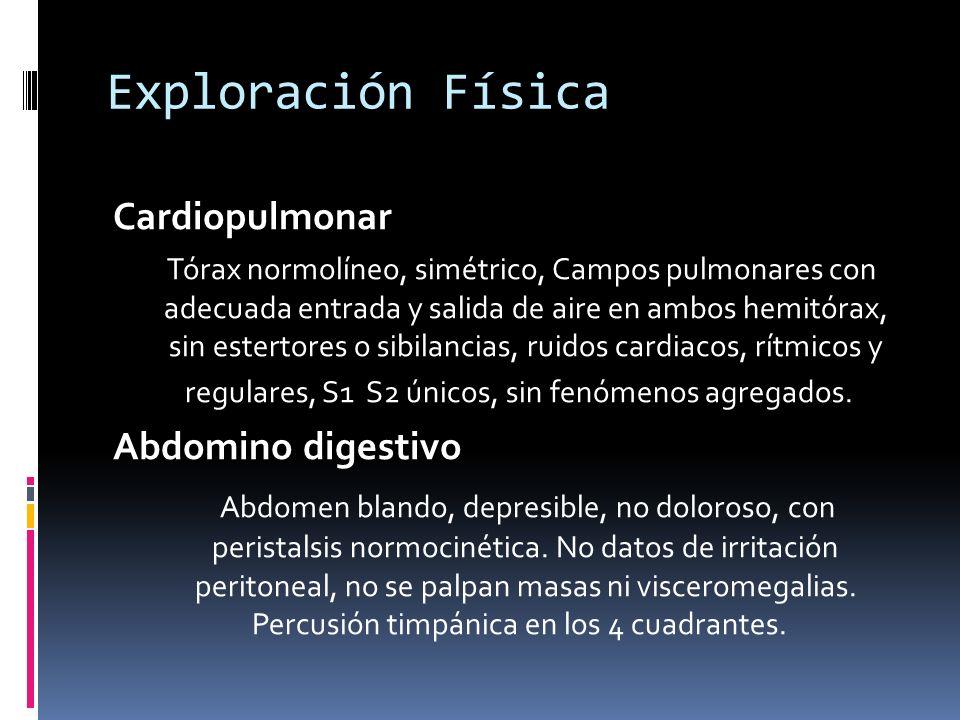 Exploración Física Cardiopulmonar Abdomino digestivo