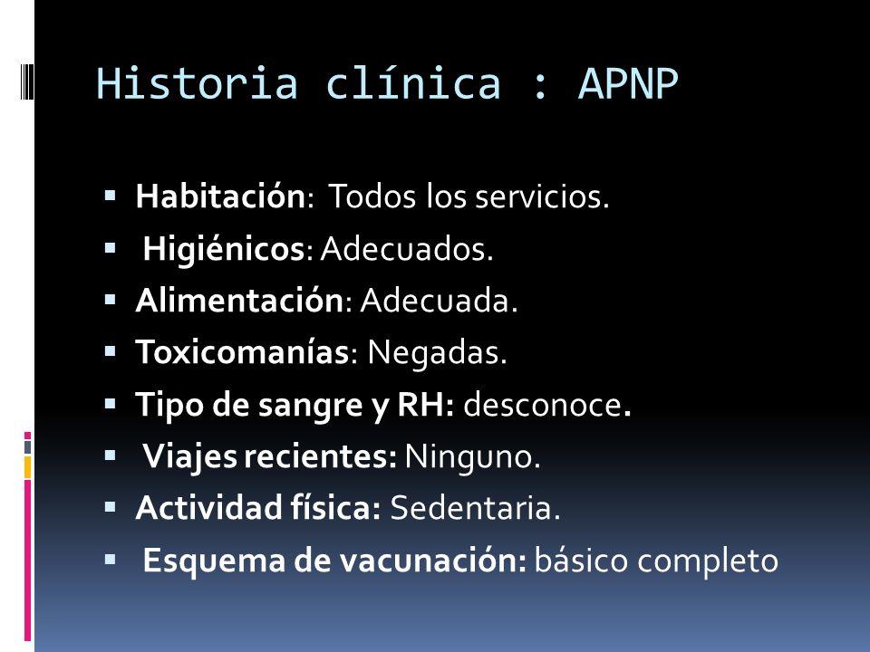 Historia clínica : APNP