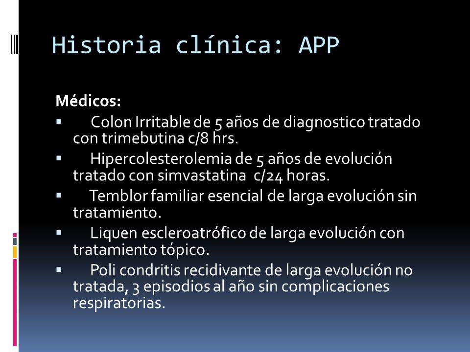 Historia clínica: APP Médicos: