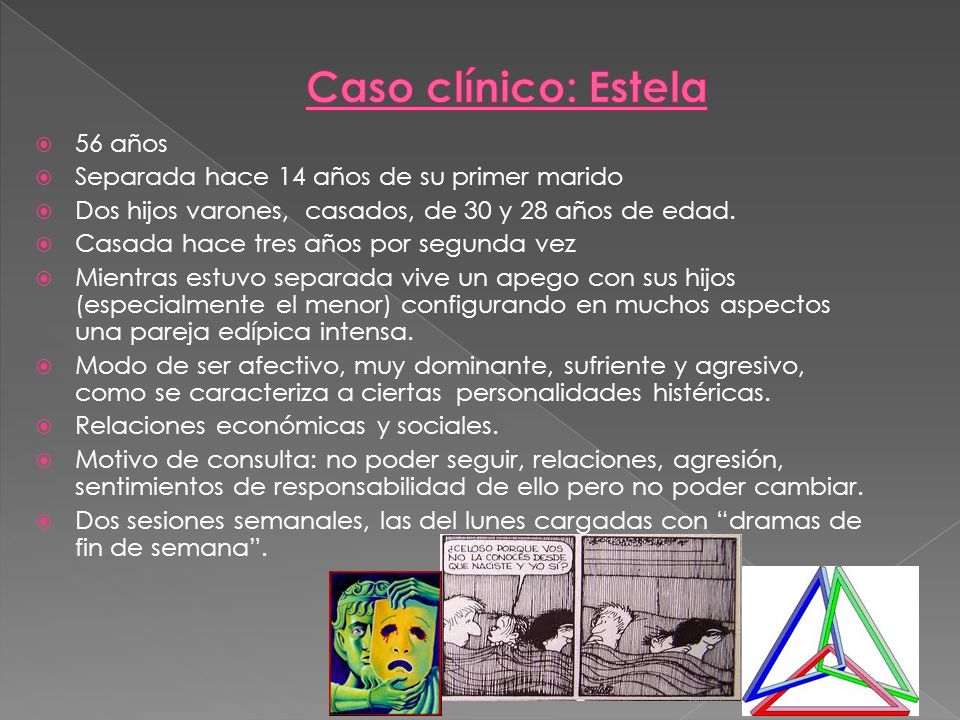 Caso clínico: Estela 56 años Separada hace 14 años de su primer marido
