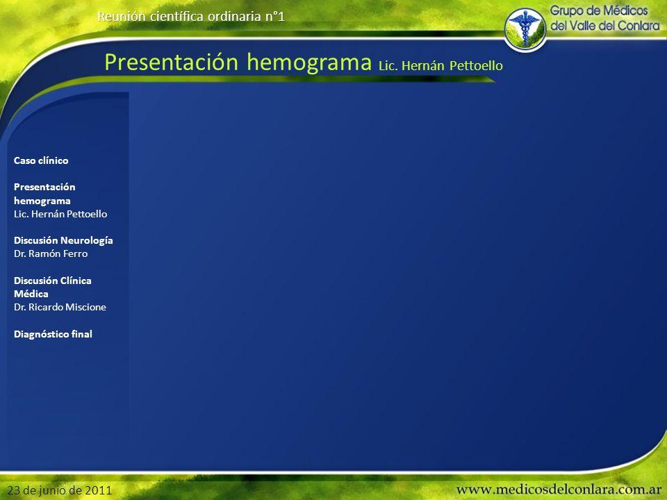 Presentación hemograma Lic. Hernán Pettoello