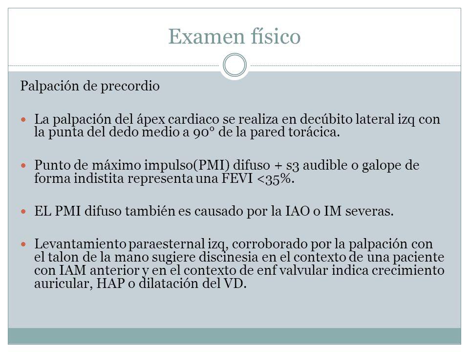 Examen físico Palpación de precordio