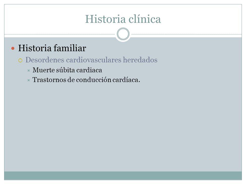 Historia clínica Historia familiar