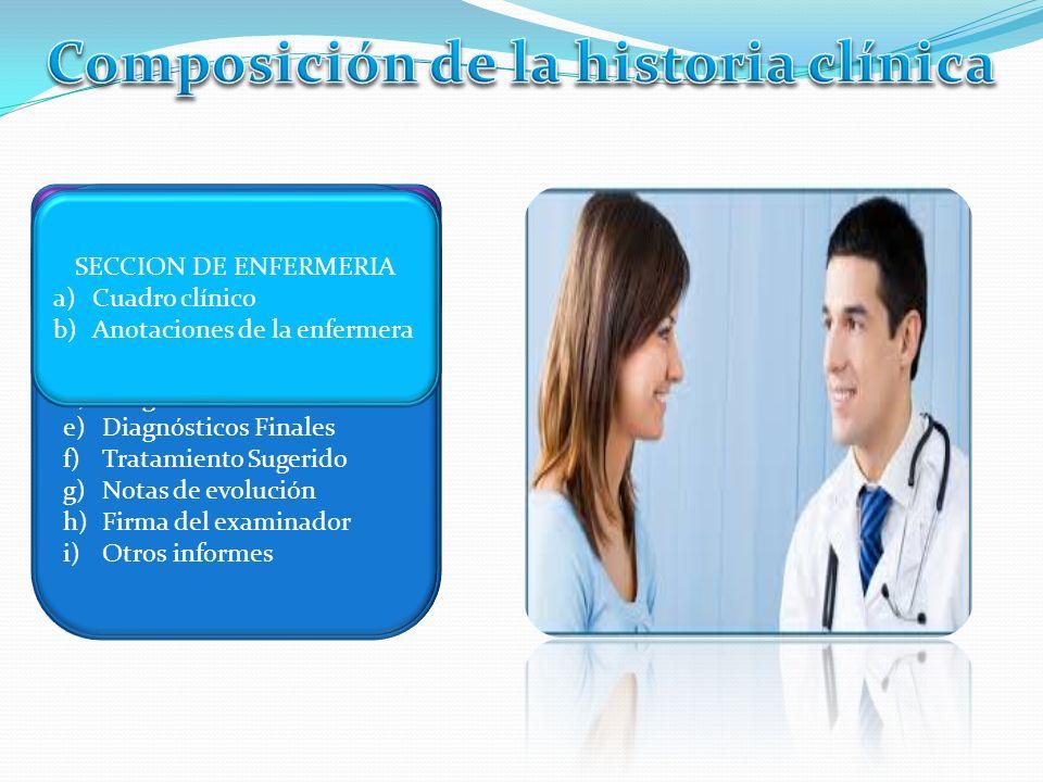 Composición de la historia clínica