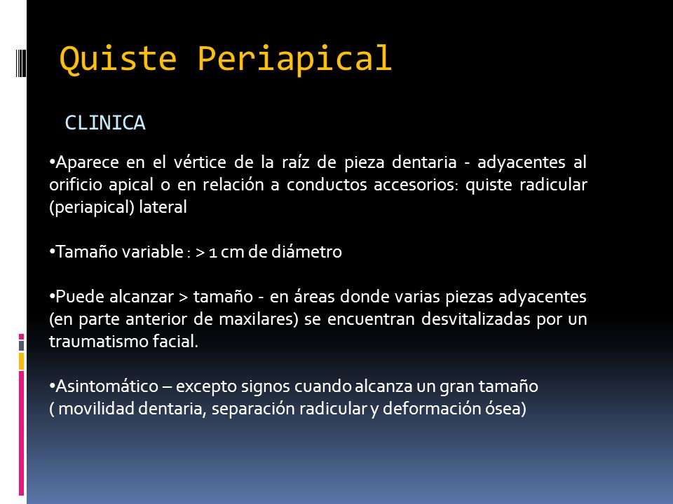 Quiste Periapical CLINICA