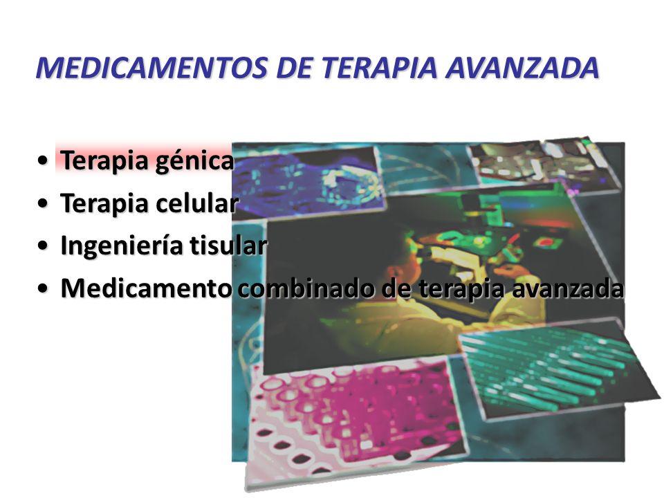 MEDICAMENTOS DE TERAPIA AVANZADA