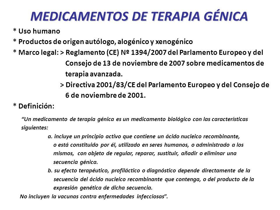 MEDICAMENTOS DE TERAPIA GÉNICA