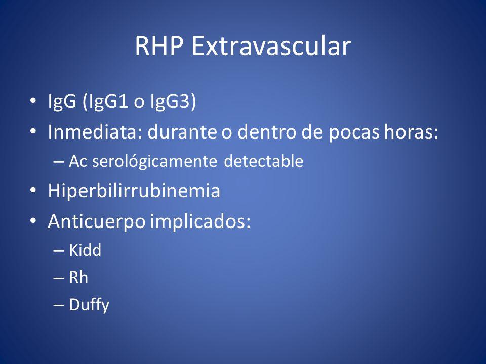 RHP Extravascular IgG (IgG1 o IgG3)