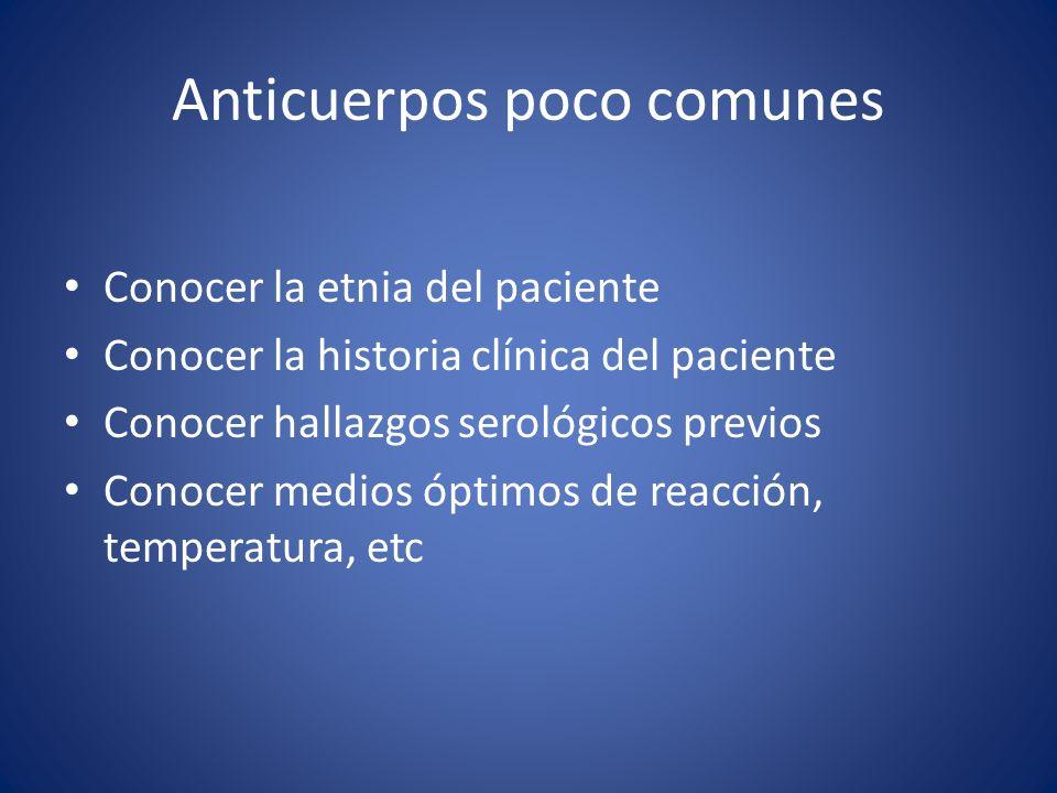 Anticuerpos poco comunes