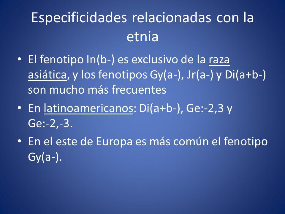 Especificidades relacionadas con la etnia