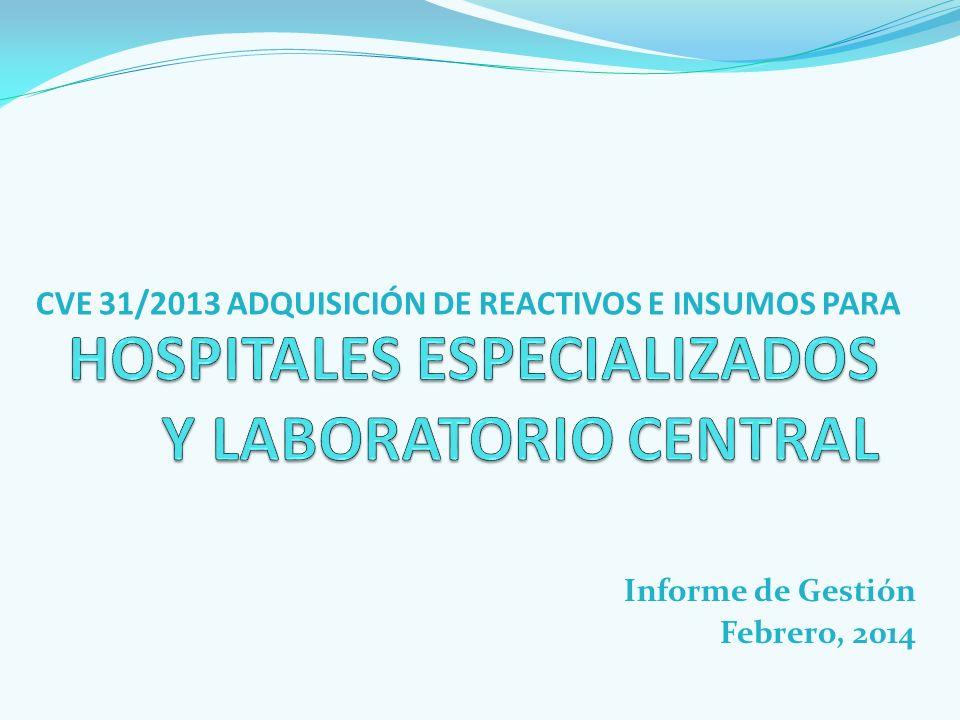 HOSPITALES ESPECIALIZADOS Y LABORATORIO CENTRAL