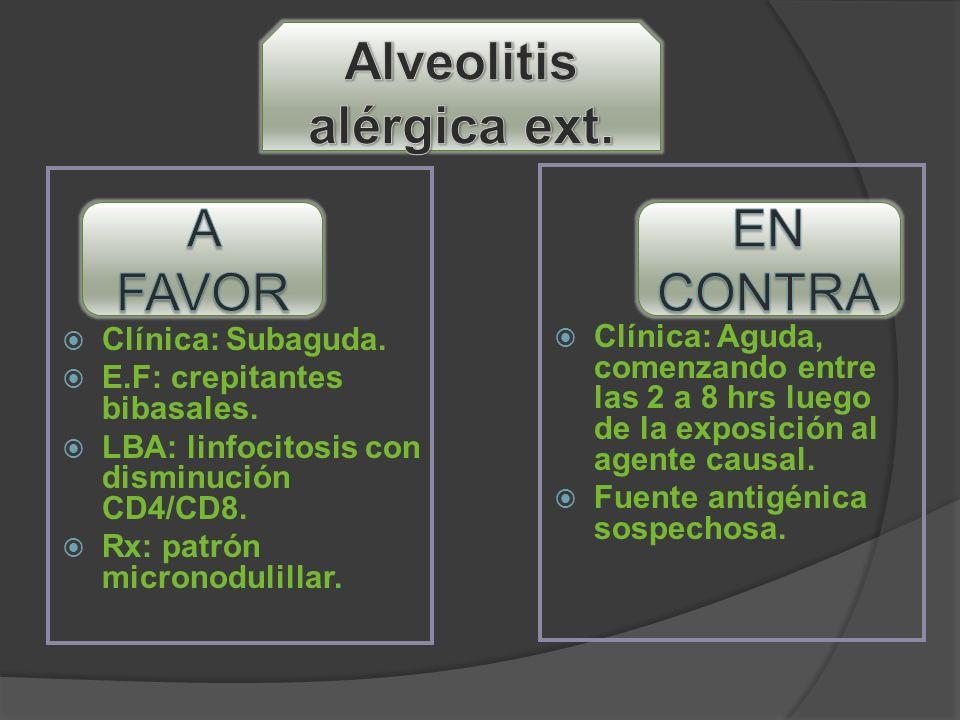 Alveolitis alérgica ext.