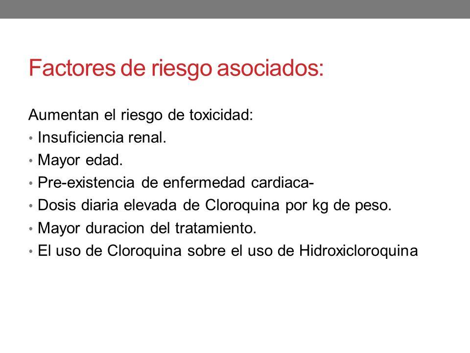 Factores de riesgo asociados: