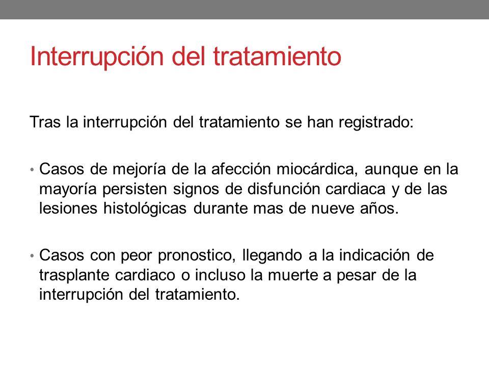 Interrupción del tratamiento