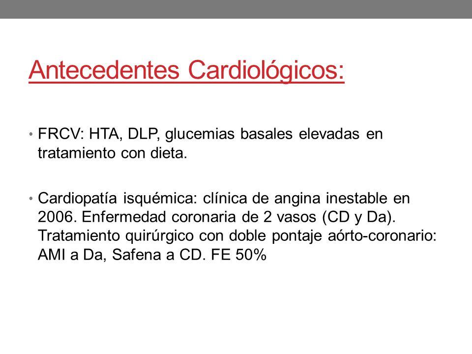 Antecedentes Cardiológicos:
