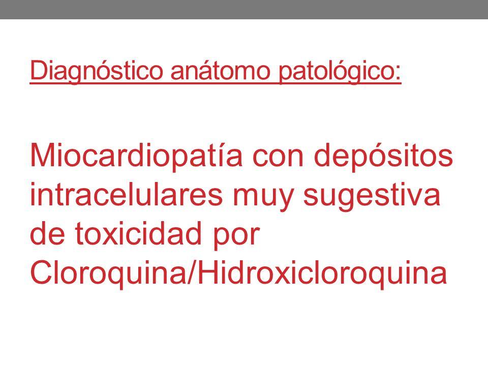 Diagnóstico anátomo patológico: