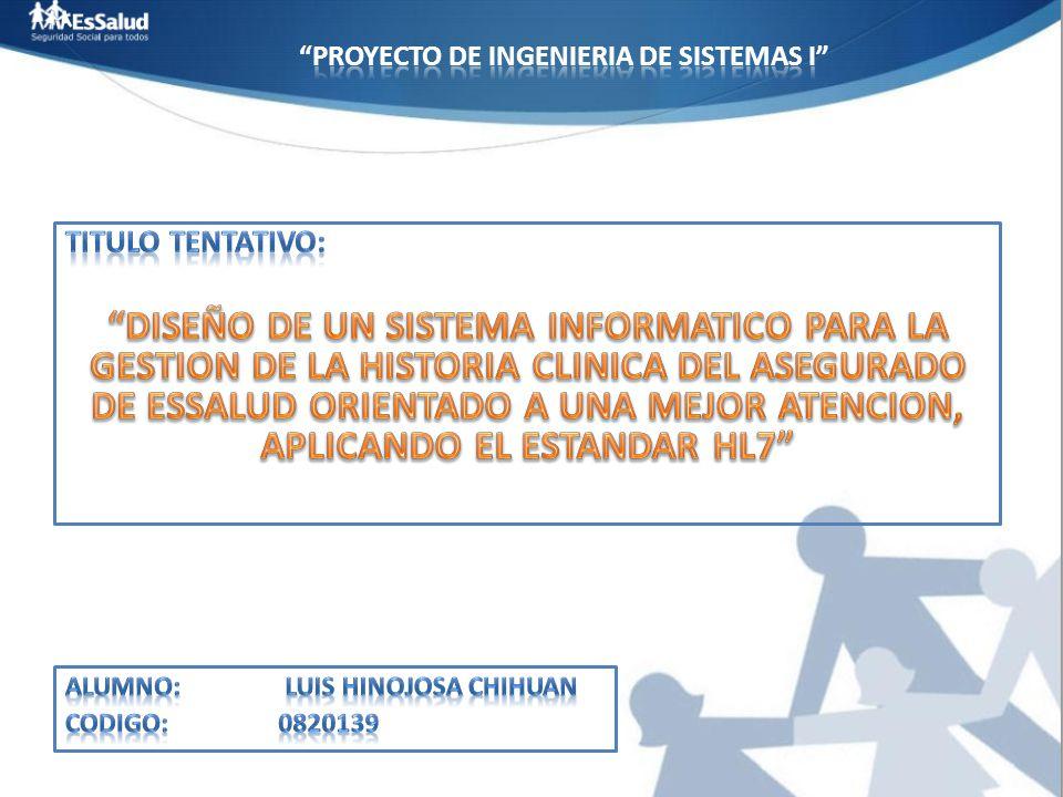 PROYECTO DE INGENIERIA DE SISTEMAS i