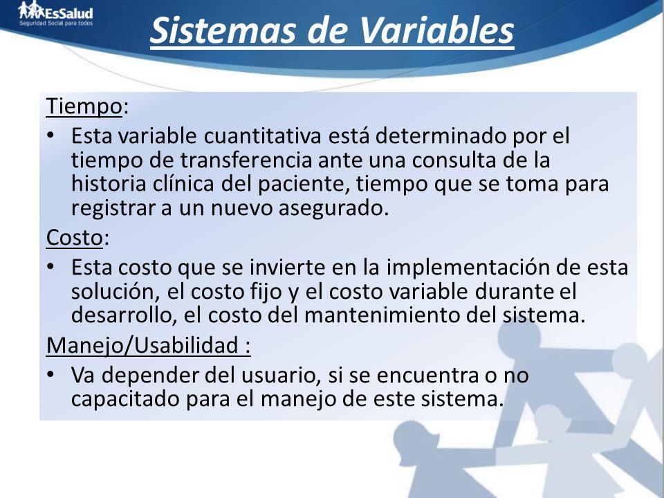 Sistemas de Variables Tiempo: