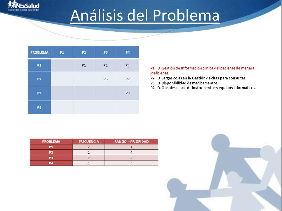Análisis del Problema PROBLEMA P1 P2 P3 P4