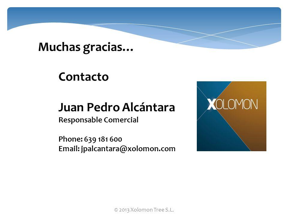 Muchas gracias… Contacto Juan Pedro Alcántara Responsable Comercial