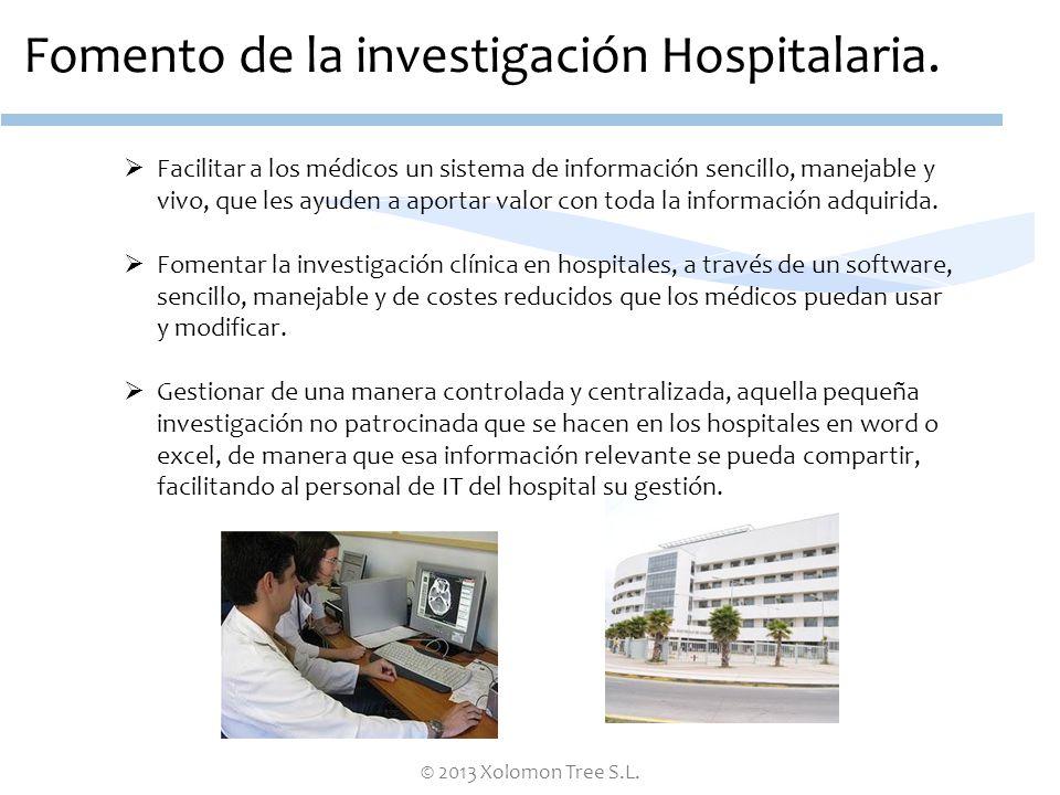 Fomento de la investigación Hospitalaria.