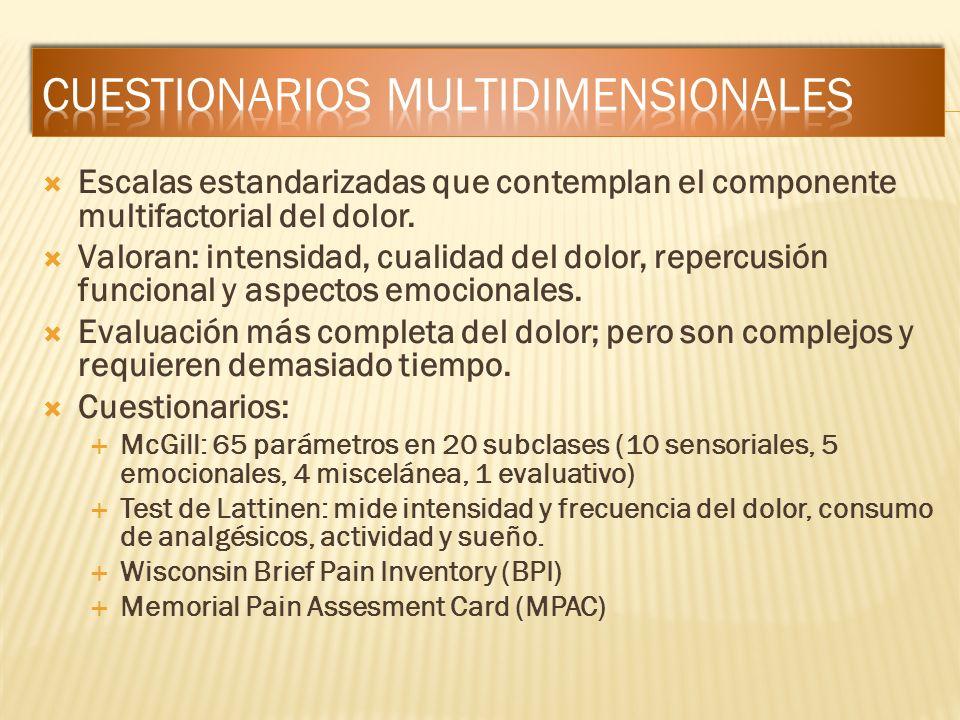 Cuestionarios multidimensionales
