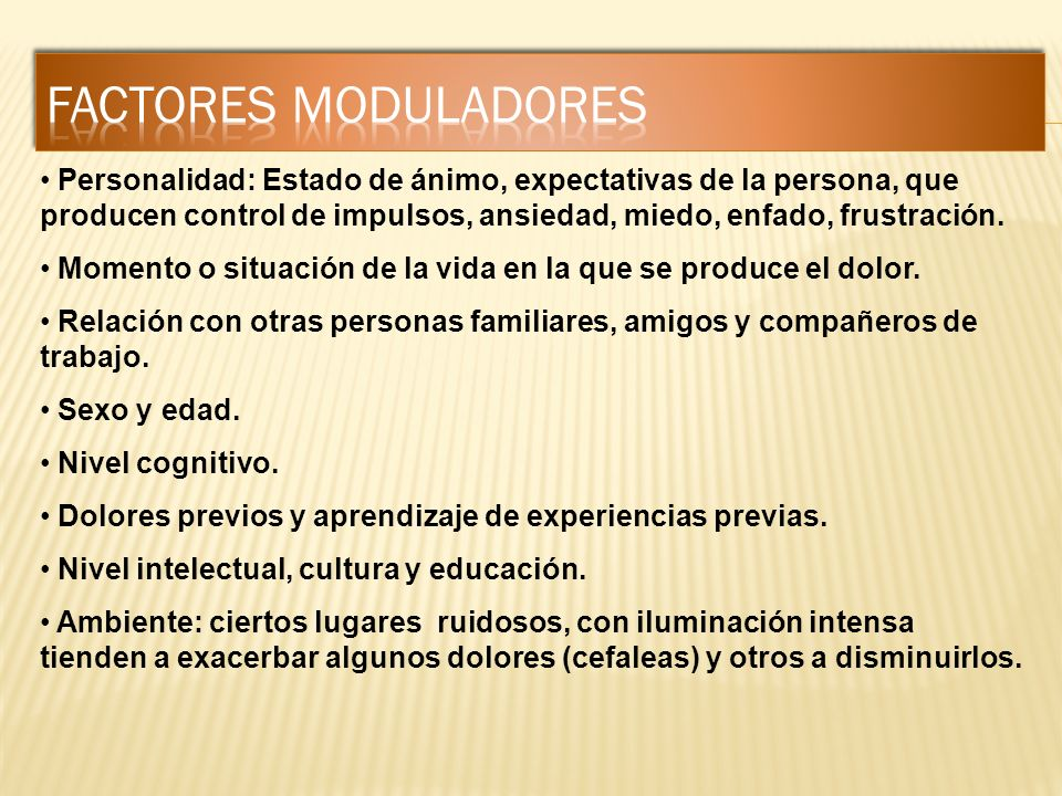 FACTORES MODULADORES