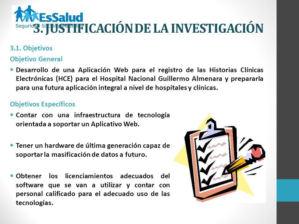 3. JUSTIFICACIÓN DE LA INVESTIGACIÓN