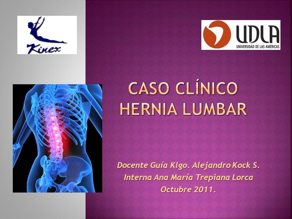 Caso clínico hernia lumbar