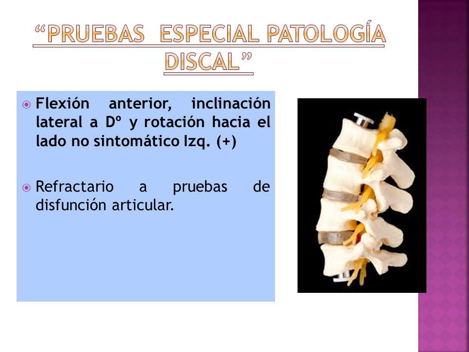 Pruebas especial patología discal