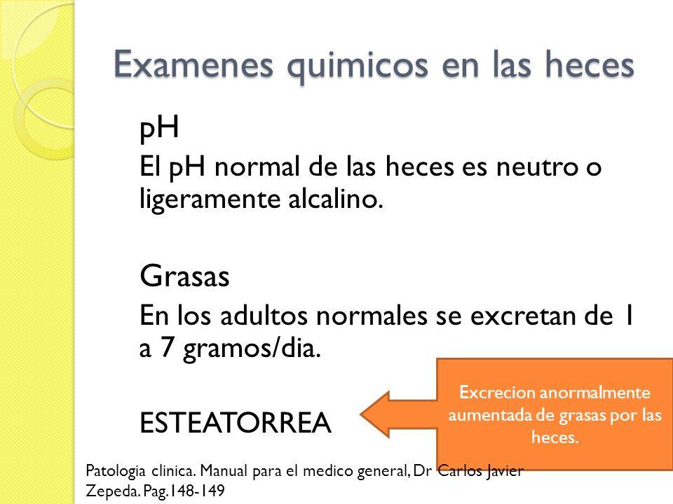 Examenes quimicos en las heces