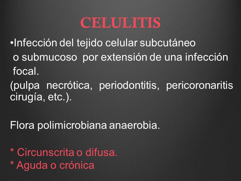 CELULITIS Infección del tejido celular subcutáneo