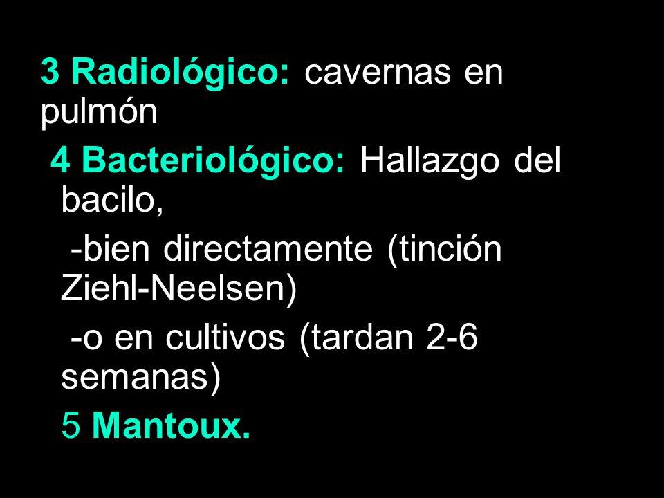 3 Radiológico: cavernas en pulmón