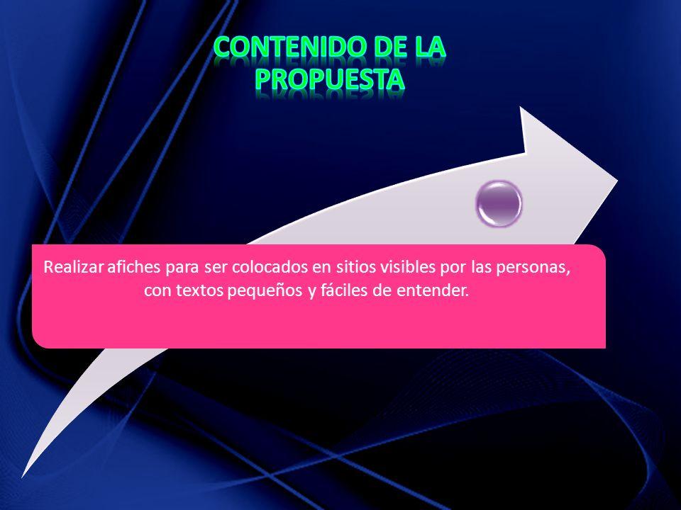 CONTENIDO DE LA PROPUESTA
