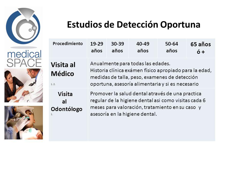 Estudios de Detección Oportuna