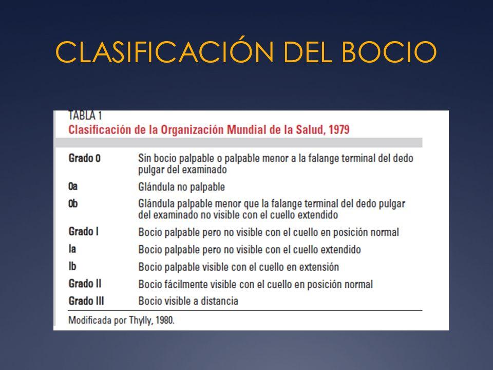 CLASIFICACIÓN DEL BOCIO