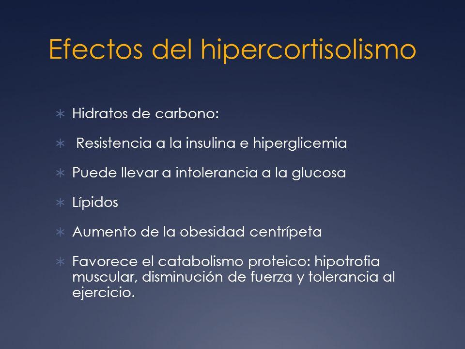 Efectos del hipercortisolismo