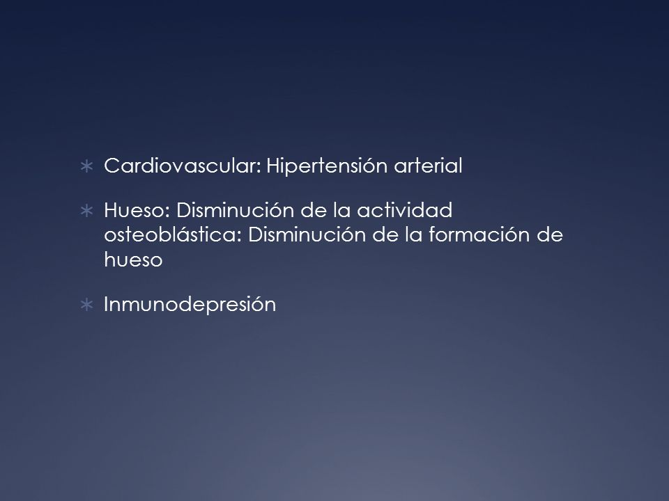 Cardiovascular: Hipertensión arterial