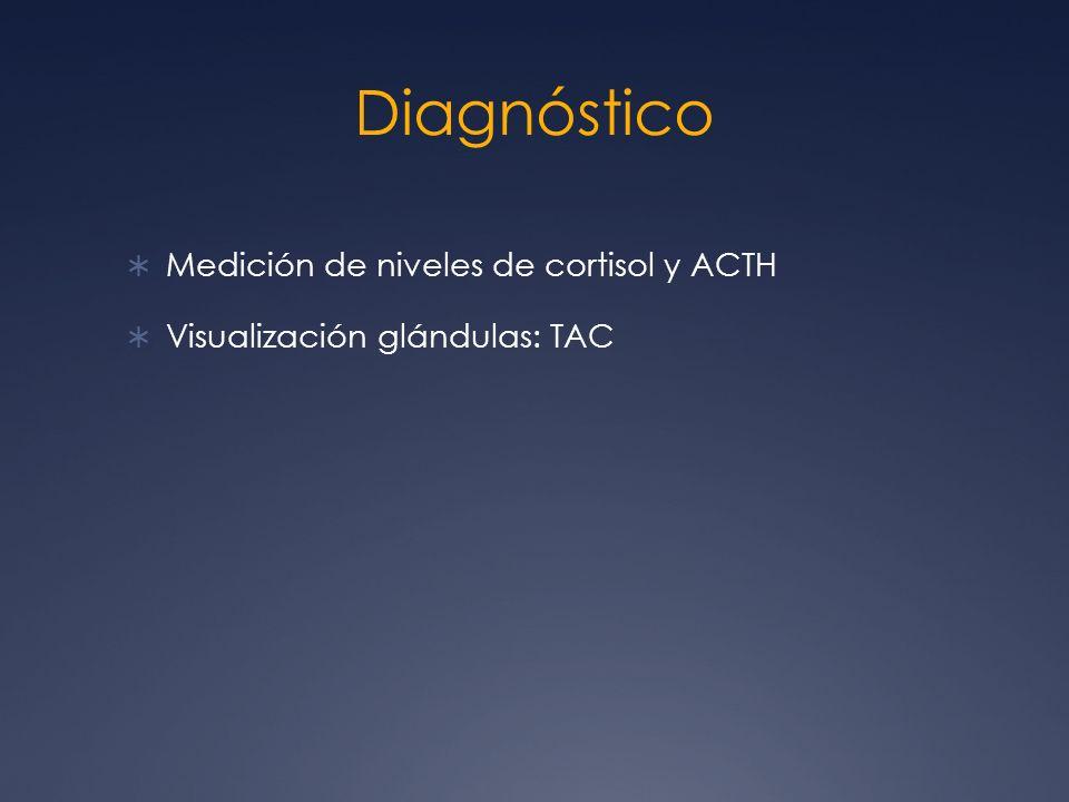 Diagnóstico Medición de niveles de cortisol y ACTH